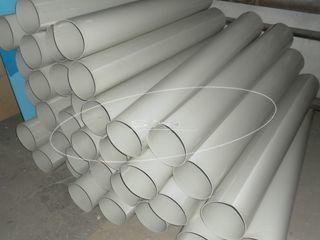 Вытяжная система вентиляции из полипропилена на муфтах