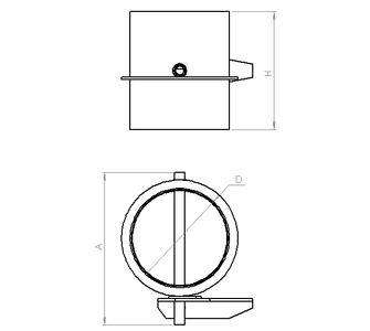 Дроссель круглый без соединения из полипропилена, диаметр 1250