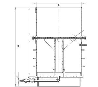 Нутч-фильтр из полипропилена, разъемный:, объем приемника суспензии 0,03