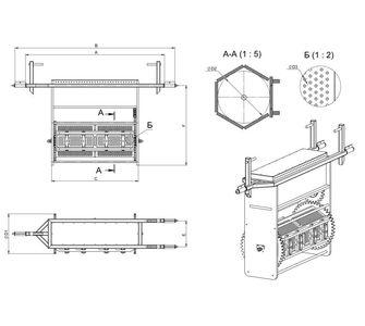 Гальванический барабан из полипропилена, односекционный:, максимальная загрузка <br/> барабана/колокола 30