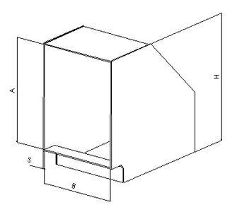 Отвод 90 прямоугольный без соединения из полипропилена, размер сечения 800х400