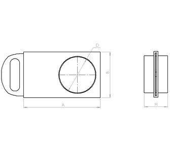 Шибер круглый без соединения из полипропилена, диаметр 250