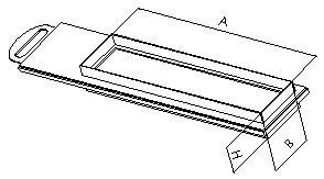 Шибер прямоугольный  без соединения из полипропилена, размер сечения 1000х300