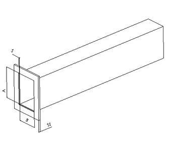 Воздуховод прямоугольный с фланцем из полипропилена, размер сечения 200х150