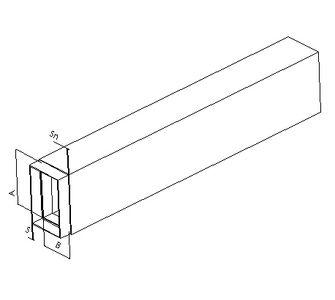 Воздуховод прямоугольный с ниппелем из полипропилена, размер сечения 350х350