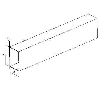Воздуховод прямоугольный без соединения из полипропилена, размер сечения 300х150