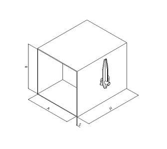 Дроссель прямоугольный  без соединения из полипропилена, размер сечения 350х350