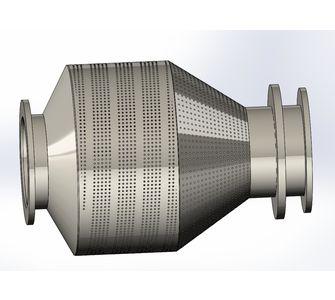 Шнековый барабан из полипропилена:, диаметр 990