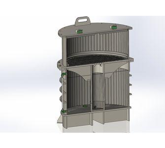 Нутч-фильтр из полипропилена, разъемный:, объем приемника суспензии 0,60