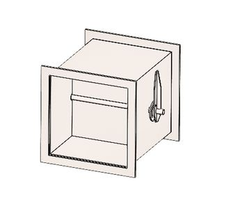Дроссель прямоугольный  без соединения из полипропилена, размер сечения 150х100