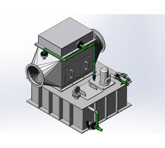 Газопромыватель горизонтальный из полипропилена,  10000-12500