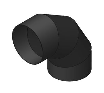 Отвод 90 круглый  без соединения из полиэтилена, диаметр 200