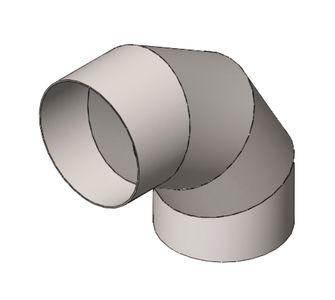 Отвод 90 круглый без соединения из полипропилена, диаметр 900