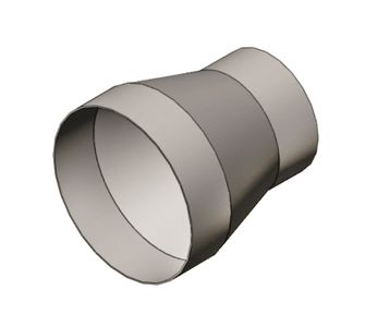 Переход круглый без соединения из полипропилена, диаметр 250