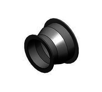 Переход круглый с фланцевым соединением из полиэтилена, диаметр 600