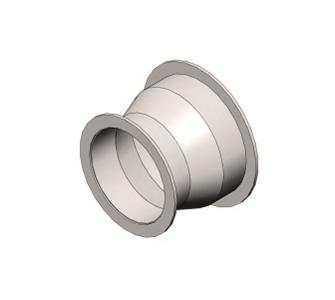 Переход круглый  с фланцевым соединением из полипропилена, диаметр 355