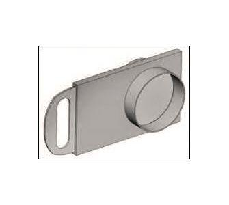 Шибер круглый без соединения из полипропилена, диаметр 900