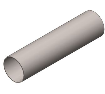 Воздуховод круглый без соединения из полипропилена, диаметр 1400