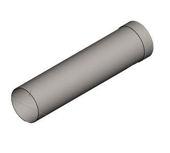Воздуховод круглый  с муфтой из полипропилена, диаметр 2000