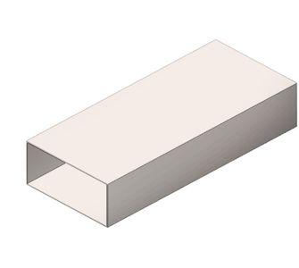 Воздуховод прямоугольный без соединения из полипропилена, размер сечения 200х200