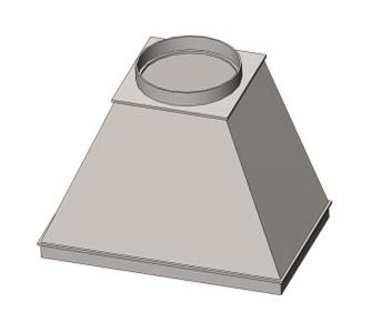 Зонт вытяжной круглый без соединения из полипропилена, диаметр 300